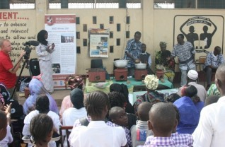 Briquette and stove presentation at New Jeshwang Lower Basic School
